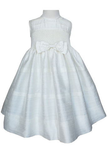 Beautiful Beth Ivory Silk Dupioni Pageant Girls Dress--Carousel Wear - 2