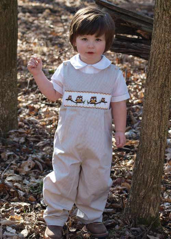 FREE! WITH PURCHASE OF $75 OR MORE.Little boys fall owl longall--Carousel Wear