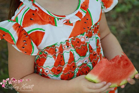 Summer days Vermilion Watermelon dress--Carousel Wear - 2