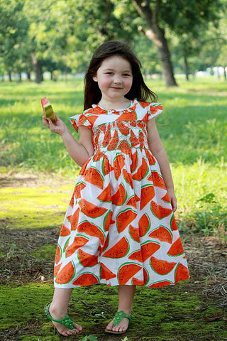Summer days Vermilion Watermelon dress--Carousel Wear - 4