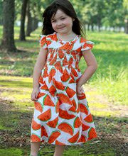 Summer days Vermilion Watermelon dress--Carousel Wear - 1
