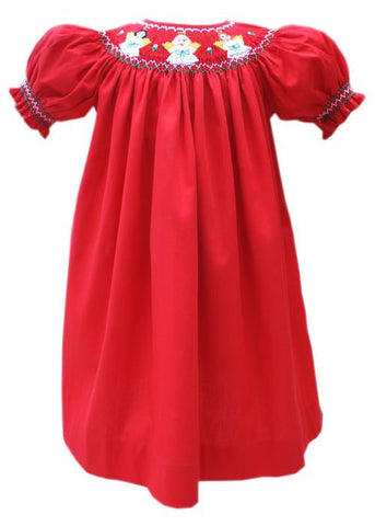 Classic Girls Red Christmas Angels Bishop Dress--Carousel Wear - 2