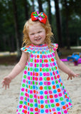 Rainbow Polka Dots Bishop--Carousel Wear - 3