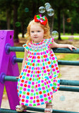 Rainbow Polka Dots Bishop--Carousel Wear - 2