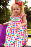 Rainbow Polka Dots Bishop--Carousel Wear - 4