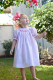Girls Birthday Party Pink Dress with Smocked Cupcakes Bishop Style--Carousel Wear - 4