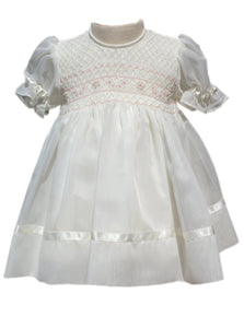 Baby girls organza ceremony dress 6m--Carousel Wear
