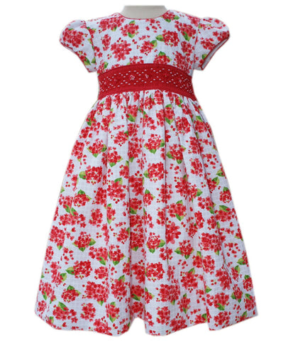 Girls red dress with smocking 4T--Carousel Wear - 1
