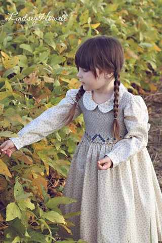Country Girls Floral Fall Dress with Long Sleeves--Carousel Wear - 2