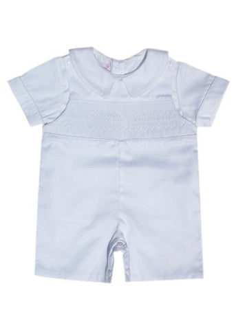 Boys Pristine White Christening Shortall Outfit--Carousel Wear - 2