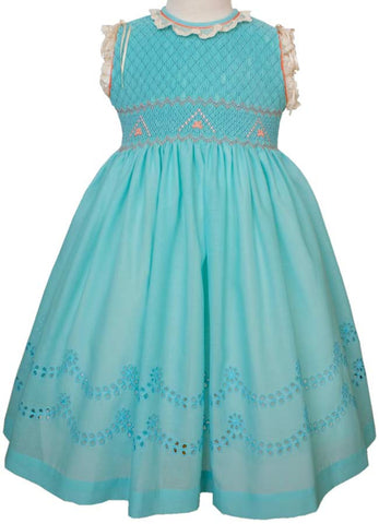 Exquisite Turquoise And Coral Dress--Carousel Wear - 2