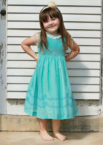 Exquisite Turquoise And Coral Dress--Carousel Wear - 1