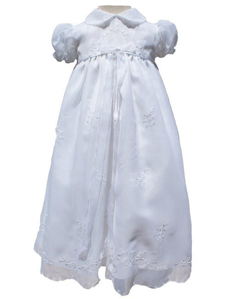 Lovely Lily White Christening Gown for Baby Girl 9m--Carousel Wear - 1