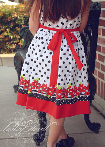 Valentina Black and white girls polka dot dress--Carousel Wear - 2