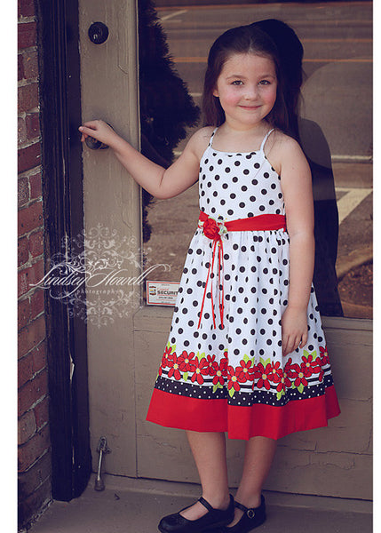 Valentina Black and white girls polka dot dress--Carousel Wear - 1