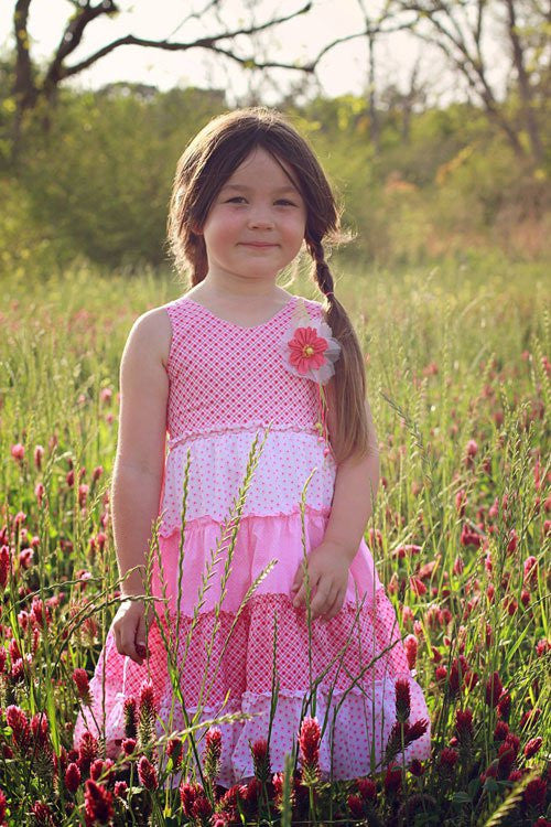 Perfectly Whimsy Pink Girls Dress--Carousel Wear - 1