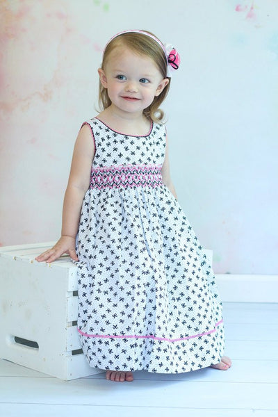 Girls Summer Smocked Sleeveless Dress Abby--Carousel Wear - 1