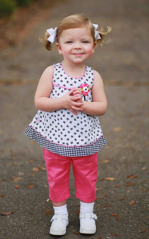 Baby Girls Dress with Pink Pants--Carousel Wear - 2