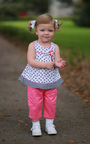 Baby Girls Dress with Pink Pants--Carousel Wear - 1