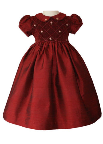 Scarlett Our Girls Pageant Red Silk Holiday Dress--Carousel Wear - 2