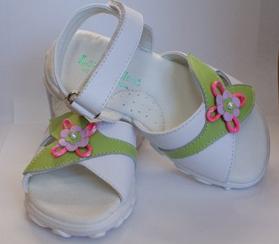Girls summer leather sandals--Carousel Wear - 1