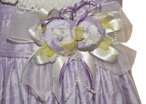 Girls Kali Lavender Silk Dress--Carousel Wear - 2