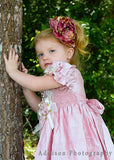 Light Pink Flower Girls Silk Dress--Carousel Wear - 5