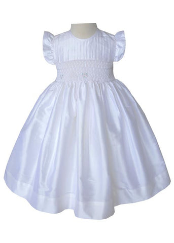 Girls Special Occasion Off White Silk Dress--Carousel Wear - 1