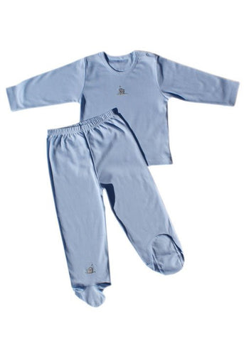 Hippo Boys Long Sleeve Shirt with Footies--Carousel Wear - 2
