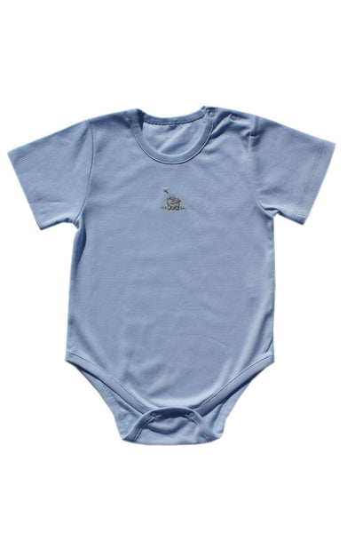 Hippo Boys Short Sleeve Onesie--Carousel Wear - 1