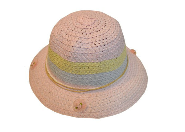 Pink yellow blue Easter hat--Carousel Wear - 1