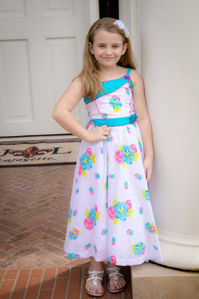 Santana Floral Party Summer Girls Dress--Carousel Wear - 1