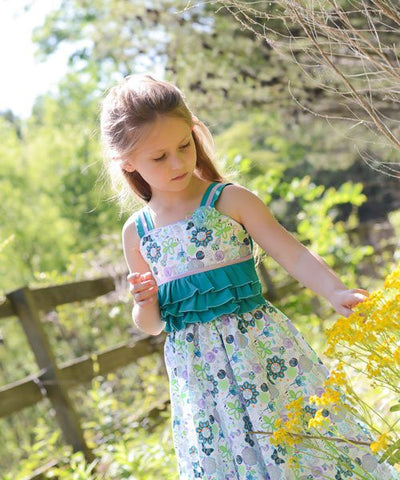 Beautiful Girls Summer Party Dress with Ruffles Anny--Carousel Wear - 2