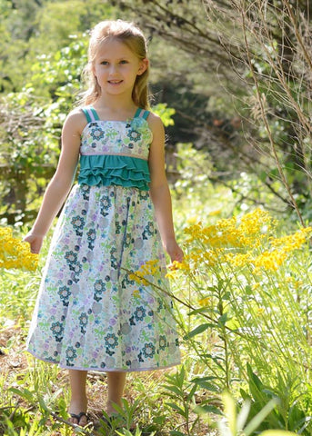 Beautiful Girls Summer Party Dress with Ruffles Anny--Carousel Wear - 1
