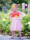 Spaghetti Straps Girls Summer Dress with Twirly Skirt--Carousel Wear - 2