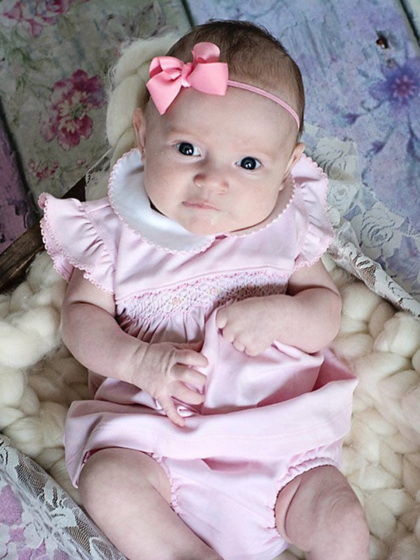 Luxury baby girls pink dress and bloomers--Carousel Wear - 1