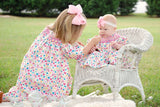 Traci our hand smocked floral girls bishop--Carousel Wear - 5