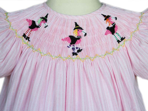 Girls Lola halloween smocked flamingo witch dress--Carousel Wear - 2