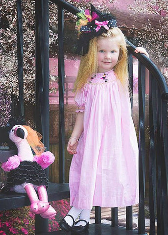 Girls Lola halloween smocked flamingo witch dress--Carousel Wear - 1
