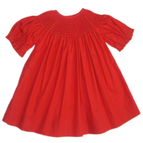 Ready to smock red bishop--Carousel Wear - 2