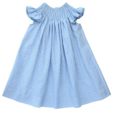 Ready to Smock blue summer dress--Carousel Wear