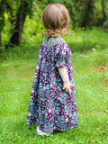 Agatha Girls Paisley Fall Bishop Dress with Smocking--Carousel Wear - 3