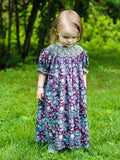 Agatha Girls Paisley Fall Bishop Dress with Smocking--Carousel Wear - 1