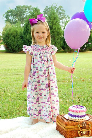 Cupcakes girls Suzie first birthday baby dress--Carousel Wear - 1