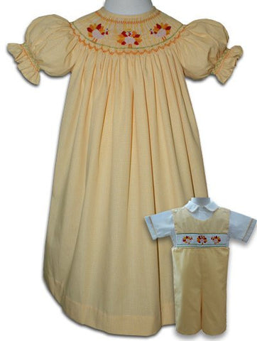 "Girl's 18"" Doll Thanksgiving Turkey Dress--Carousel Wear - 1"