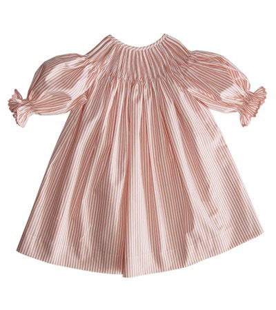 Ready for smocking girls stripped dress--Carousel Wear