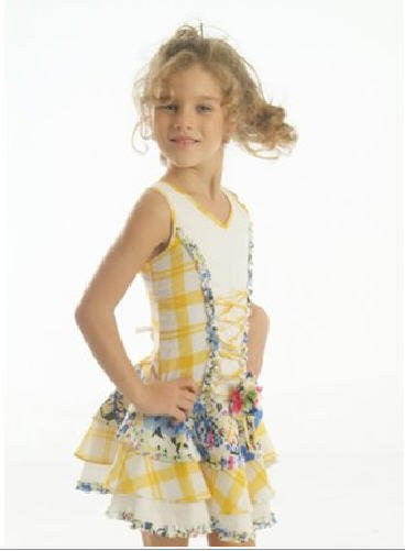 Girls sassy yellow summer dress--Carousel Wear - 1