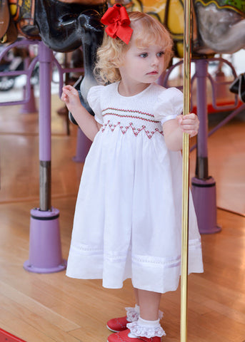Girls white heirloom Charlotte dress--Carousel Wear - 1