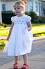 Elegant Heirloom Embroidered Girls White Dress for Special Occasions