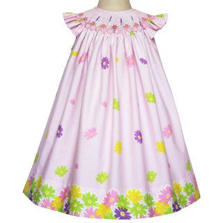 Venecia Easter girls pink floral dress--Carousel Wear - 1